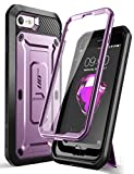 SUPCASE Unicorn Beetle Pro Series Case Designed for iPhone SE 2nd Generation 2020 / iPhone 7 / iPhone 8, Built-in Screen Protector Full-Body Rugged Holster & Kickstand Case (Purple)