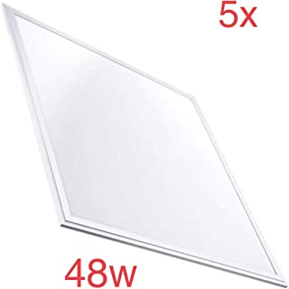 Techo armstrong 3200 Lumenes reales 40 W Led Atomant Pack 2x Panel Led Slim 60x60cm 595X595X8 Mm color blanco calido 3000K