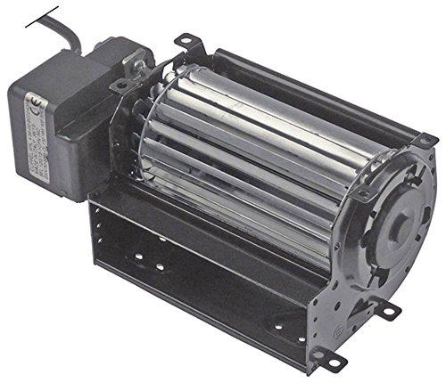 COPREL FFL - Ventilador transversal para refrigerador, 19 W, diámetro 60 x 120 mm, motor izquierdo, 230 V, 50 Hz, cable de conexión, 2000 mm, 15 mm, rodamiento de goma