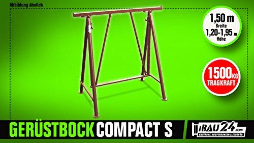 'Plegable Andamio caballete COMPAKT S 1200, color marrón lacado, altura regulable 1,5T,...