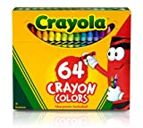 Crayola TRTAZ11A Crayon Set, 3-5/8', Permanent/Waterproof, 64/BX, Assorted, Sold as 1 Box