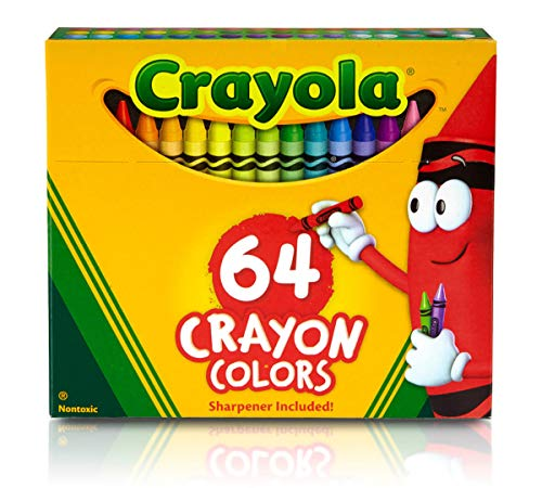 Crayola TRTAZ11A Crayon Set, 3-5/8', Permanent/Waterproof, 64/BX, Assorted, Sold as 1 Box
