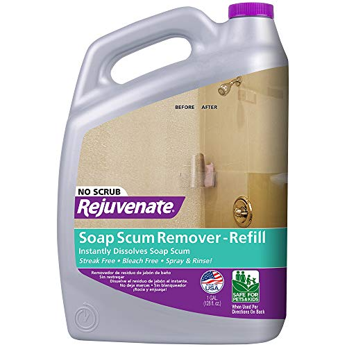 Product Image of the Rejuvenate Scrub Free Soap Scum Remover Cleaning Formula - Spray and Rinse for Streak Free Finish on Glass, Ceramic Tile, Chrome, Plastic and More