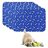 Geyecete Washable Dog Pee Pads (4pack) of Premium Pee Pads for Dogs, Waterproof Whelping Pads, Reusable Dog Training Pads, Travel Pet Pee Pads! Puppy Training Pads-Dark Blue-S