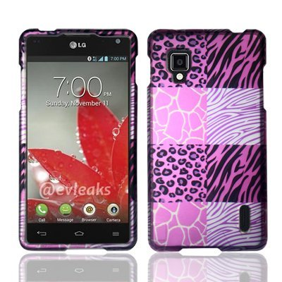 For Sprint LG Optimus G LS970 Hard Design Cover Case Pink Exotic Skins Accessory