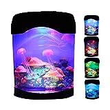 QLPXY Luz de estado de ánimo de acuario, lámpara de medusa LED de fantasía lámpara de lava, luz realista de medusas, regalo de oficina en casa para hombres, mujeres y niños