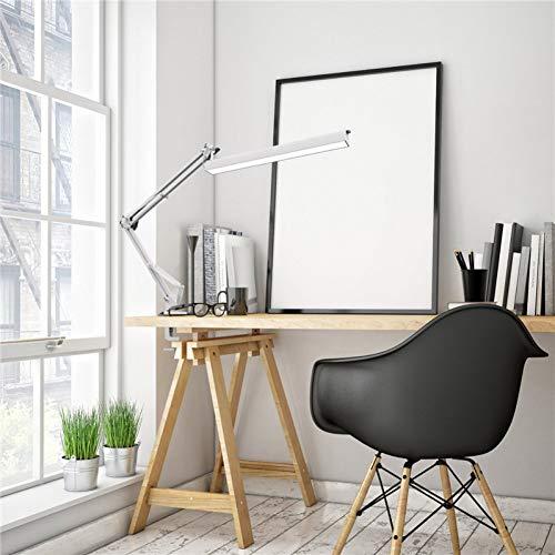 LED Schreibtischlampe 220V mit Clip 3 Level Dimmer Zeichentisch Licht Schaukel Architekt Arbeitslampe Augenpflege Weiß