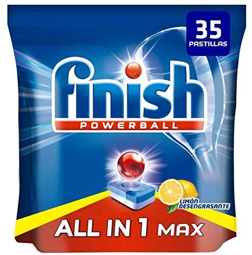 Finish Powerball All in 1 Max - Pastillas para el lavavajillas todo en 1 - limón - formato 35 unidades