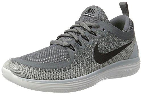 Womens Nike Free RN Distance 2 Running Shoe COOL GREY/BLACK-WOLF GREY-STEALTH 11.0