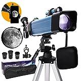 BEBANG Telescopio, telescopio monocular, telescopio astronómico para niños Adultos con trípode telescópico, Adaptador de teléfono, brújula, telescopios refractores para Principiantes en astronomí