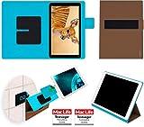 reboon Hülle für Blaupunkt Atlantis A10 Tasche Cover Case Bumper | in Braun | Testsieger