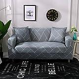 PPMP Sala de Estar geométrica Todo Incluido Funda de sofá Moderna sección elástica Funda de sofá de Esquina Funda de sofá A29 2 plazas
