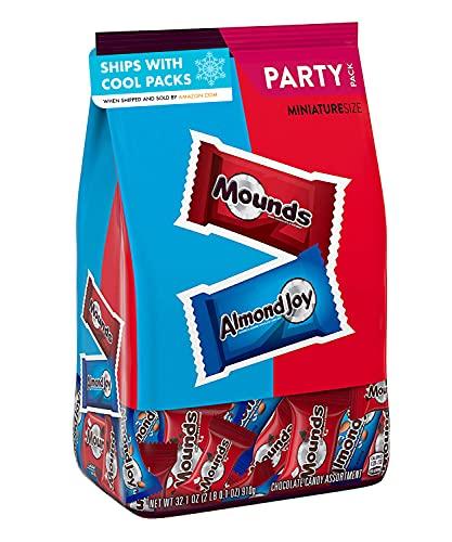 Almond Joy Mounds Halloween Candy, Miniatures Assortment, 32.1 Oz