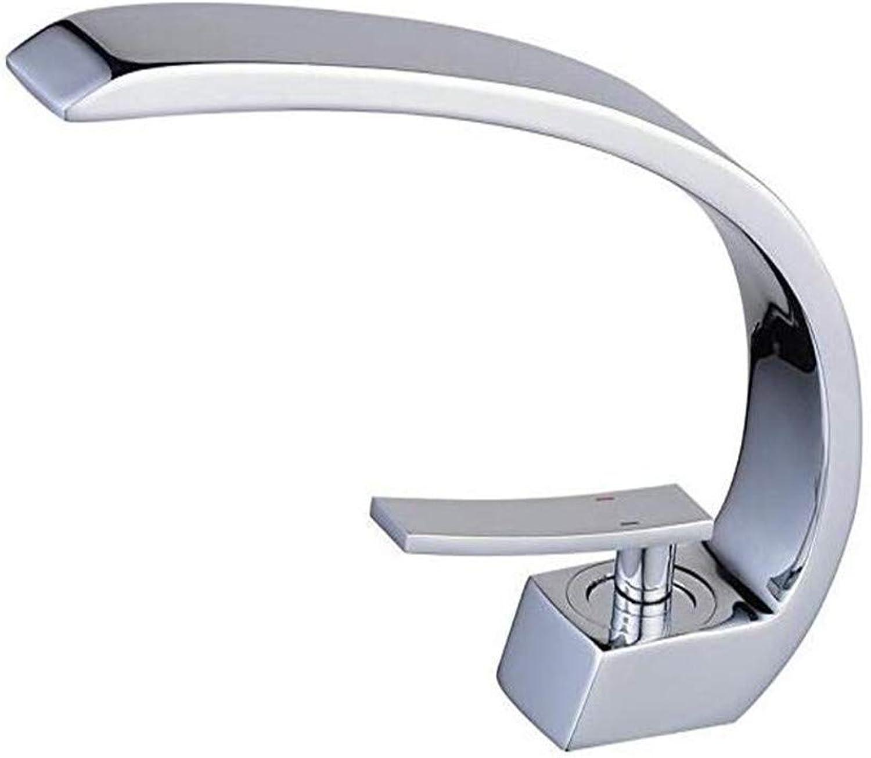 Oudan Taps Kitchen Faucetbathroom Sink Tapmixer C Shape Mono Basin Mixer Tap Sink Faucet (color   -, Size   -)