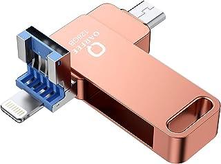 iPhone USBメモリー 最新版 フラッシュドライブ 3in1 iPhone/PC/Android/iPad/ipad pro IOS12対応 OTG Type- C 高速データ転送 亜鉛合金製 防塵 耐圧 耐衝撃(最新式 ipad pro対応)