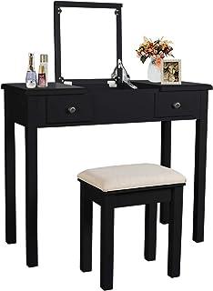 Amazon Com Black Vanities Vanity Benches Bedroom Furniture