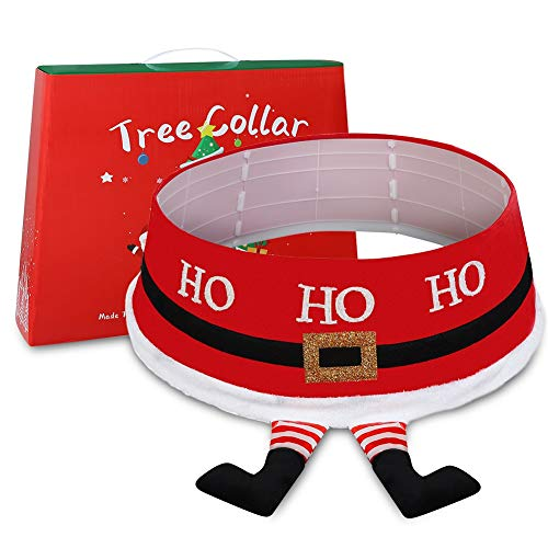ISENPENK Christmas Tree Skirts, Christmas Tree Skirt Tree Stand Cover Three-Dimensional Tree Skirt for Merry Christmas Holiday Home Decorations Tree Decoration
