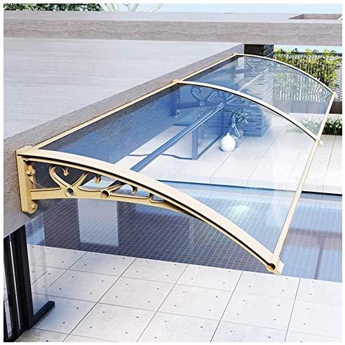 QIANMEI Tettoia Esterna pensilina da Esterno Chiaro for Porte e finestre a baldacchino | Outdoor Tenda Impermeabile Parasole | for Giardino Veranda Fi