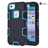 5C Case, iPhone 5C Case Cover, Magicsky Full Body Hybrid Impact Shockproof Defender Case Cover for Apple iPhone 5C, 1...