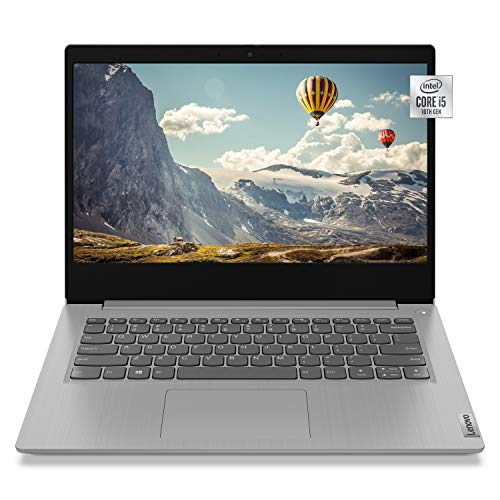 "2021 Newest Lenovo IdeaPad 3 Laptop, 14"" Full HD Screen, Intel Core i5-1035G1 Quad-Core Processor, 12GB Memory, 512GB PCIe NVMe SSD, Webcam, Wi-Fi, Bluetooth, HDMI, Windows 10 Home, KKE Mousepad, Grey"
