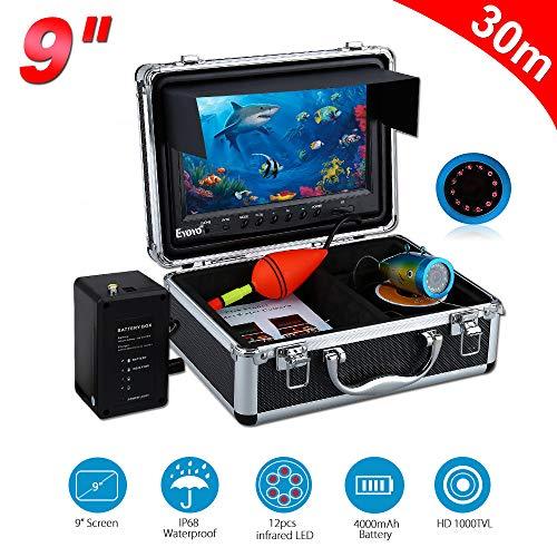 STHfficial vissen vissen vissen vinder draagbaar 9 inch met 12 IR-LED-lampen