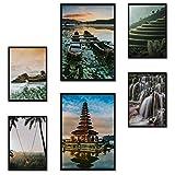 Poster24 Premium Poster Set Bali | 2X DIN A3 und 4X DIN A4