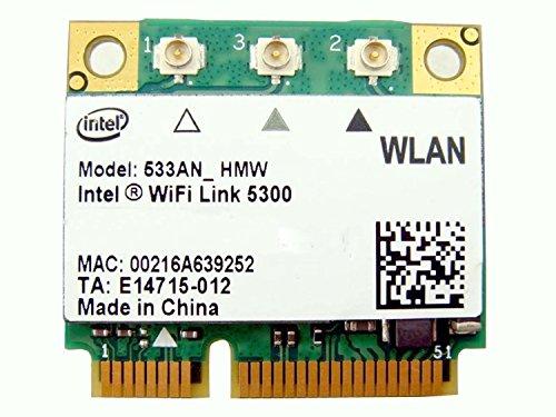 Intel 5300 533an_hmw Half Mini Pcie Pci-express Wireless Wlan Wifi Card Module N230k Kw374 for Dell Laptop 802.11n+ 450mb