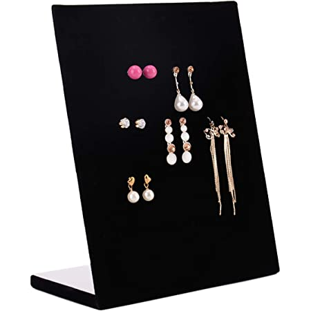 Autoark Black Velvet 30 Pair Earrings Display Holder Organizer,Jewelry Display Stand,AJ-041