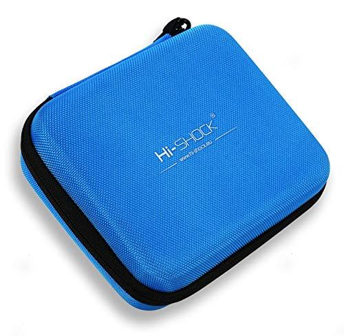 Hi-SHOCK E-Zigarette Dampf-Tasche/Vapo-Hardcase | Dampfer-Etui zur Aufbewahrung von Liquid, Vaporizer & Zubehör | Tragegriff Für Reisen - blau - wasserabweisend | Multi-Bag