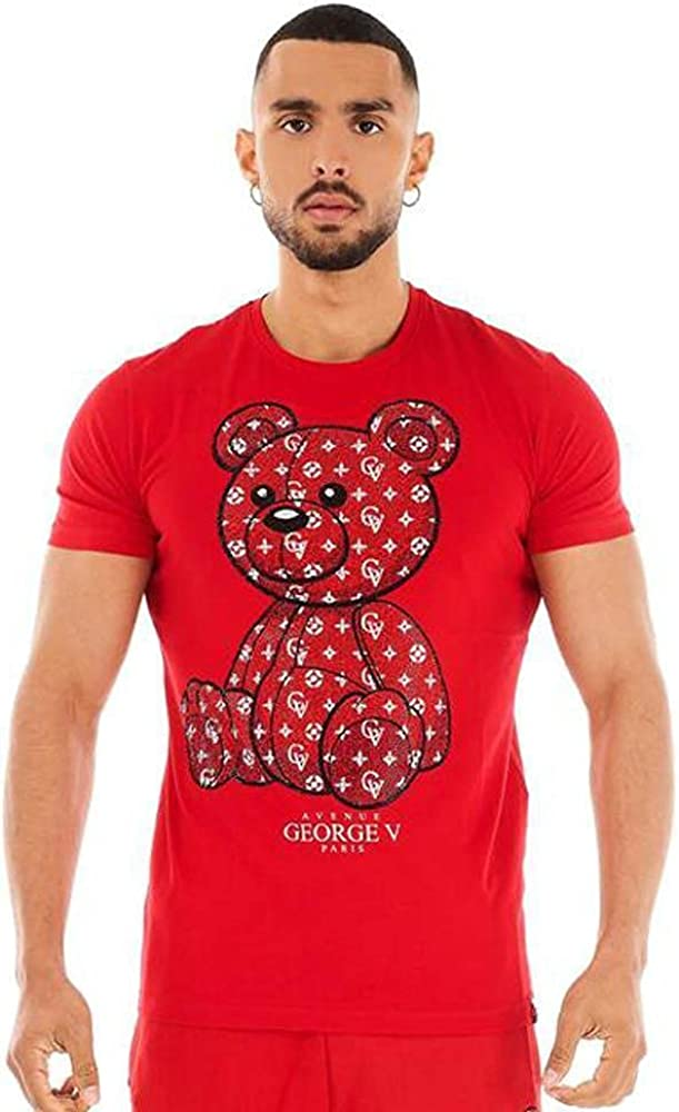 George V Men Crystal Top Free shipping Red Super special price RR Teddy