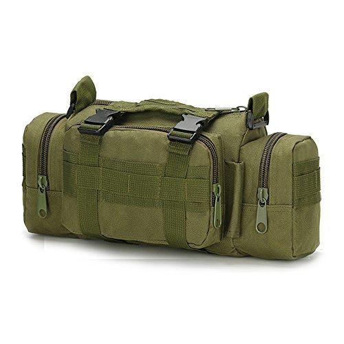 Nykkola 3P tactique militaire Taille Sac à bandoulière Sac à dos Sac de déploiement polyvalent Molle Banane à la main de transport Camping Sac à dos Camera Bag étanche, 10