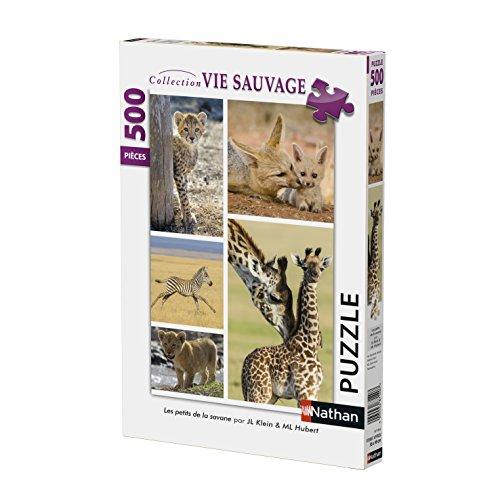 Nathan 87150Puzzle–Bambino Animali Selvatici–500Pezzi