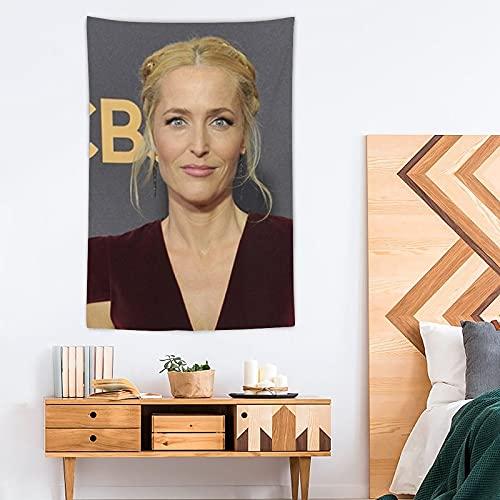 DYTH Gillian Anderson - Tapiz de poliéster para decoración del hogar, 100 x 150 cm