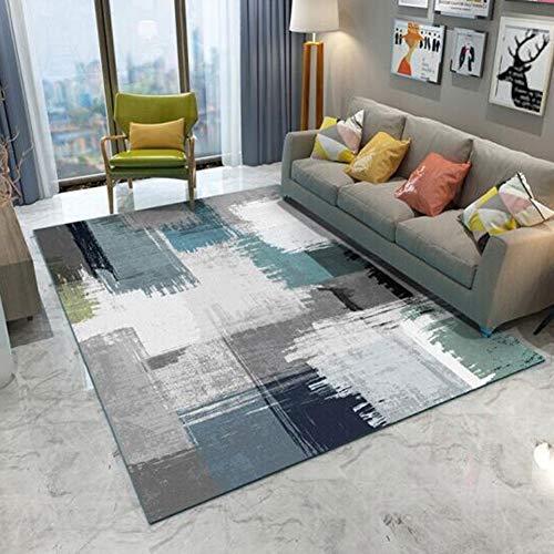QY Alfombra moquetas Alfombra Sala Dormitorio Triángulo Grande Negro Blanco Durable Alfombra Moderna Geométrico Alfombra Suave Antideslizante (Color : T11,...