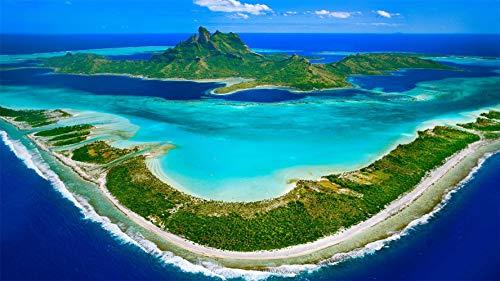 CZYSKY Puzzle 300 Pezzi, Bora Bora, Isole Sottovento, Polinesia Francese, Puzzle Giocattolo in Legno Decorazione D'Interni