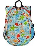 Obersee Mini bolsa de libros para niños todo en uno para escuela primaria con nevera integrada para la fiambrera (Dinos), O3KCBP018