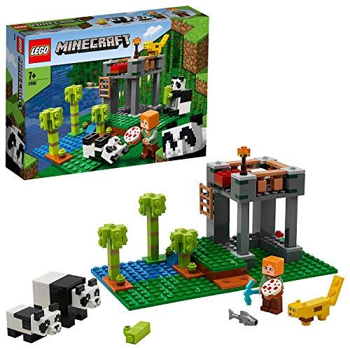 LEGO Minecraft L'AllevamentodiPanda, Set da Costruzione con Le Figure di Alex e degli Animali,Giocattoli per Bambinidai 7 Anni in su, 21158