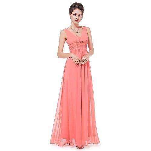 f441384ebce Ever Pretty Women s Sleeveless V Neck A Line Empire Waist Chiffon Long  Evening Party Dresses 08110
