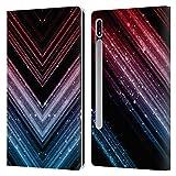 Head Case Designs Licenciado Oficialmente PLdesign Azul y Rojo Ombre Brillante metálico Carcasa de Cuero Tipo Libro Compatible con Samsung Galaxy Tab S7 5G