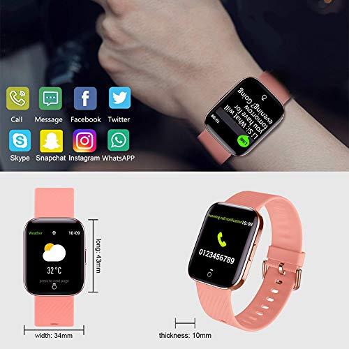 Smartwatch - Reloj Inteligente Mujer Impermeable con Cronómetro, Pulsera Actividad Inteligente para Deporte, Reloj de Fitness con Podómetro Smart Watch Mujer Hombre para Xiaomi Huawei Android IOS miniatura
