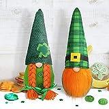 Wikay Set di 2 Gnomi Irlandesi Giorno San Patrizio Folletto Decorazioni Stanza Ornamento per la casa scandinave Fatte a Mano