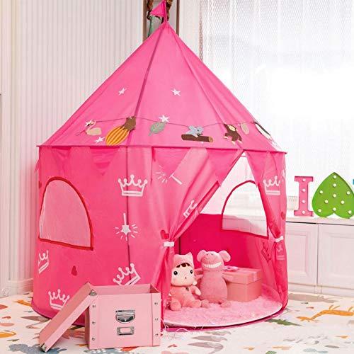 knowledgi Juego de Castillo, Princesa Interior Tiendas Tienda de Juego para niños al Aire Libre Portable Gran Playhouse, 59 '' x 51''