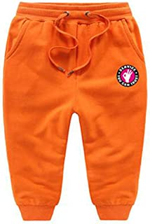Pandapang Boys Sports Warm Cotton Cute Trousers Thickened Fleece Pants