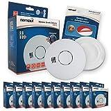 10x Nemaxx HW-2 Funkrauchmelder Rauchmelder Hitzemelder mit kombiniertem Rauch- und Thermosensor...