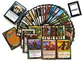 MTG Power Pack 100 Assorted Magic Cards - 10 Mythics, 60 Rares, 25 Foils & 5 Planeswalkers - Gather Official Magic: The Gathering Trading Cards - Comes with Gold Bar Gift Box
