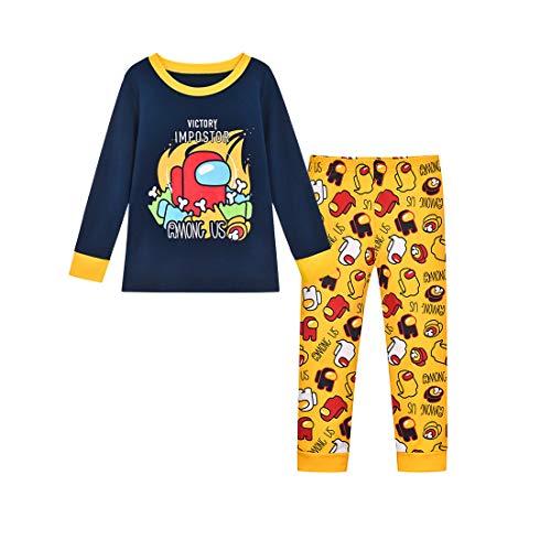 Edu Niños You Looking Sus Bro Among Us Impostor Pijamas de Gamer (Black, 10 años)