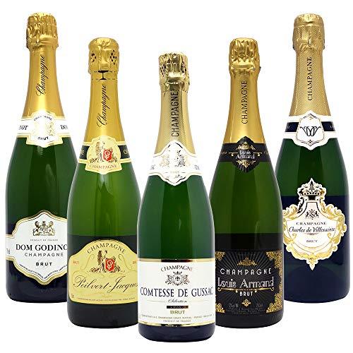ヴェリタス 高コスパ・高品質シャンパン飲み比べ5本セット((W0CG04SE))(750mlx5本ワインセット)