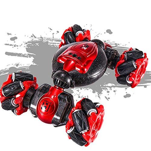 WGFGXQ 2.4G Carrera eléctrica Stunt RC Car One-Key Deformation RC Cars Off-Road Doble Cara 360 Grados Sensor de Gestos giratorios Juguete Buggy Escalada con luz y música