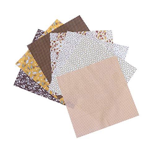 Healifty 7 Piezas Tela Cuadrados Sábanas Algodón Patchwork Artesanía Bricolaje Costura Scrapbooking Acolchado