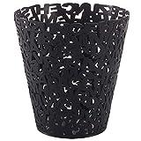 Skysep Papelera Letters Color Papelera Ideal Papelera de Diseño Moderna–Diseño en Zigzag Cubo de Basura en Plástico para Oficinas,Despachos,Hogar y Colegios Plástico (Color : Black)